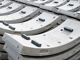 a stack of concrete segments